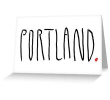 Portland - City Scroll Greeting Card