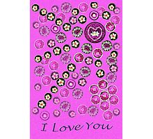 I Love You ~ Floating Flowers Photographic Print