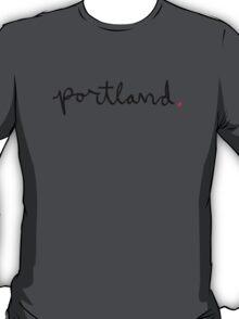 Portland Cursive - City Scroll T-Shirt