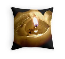 Gutted Candle Throw Pillow