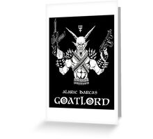Goat Lord Left Hand Path Greeting Card
