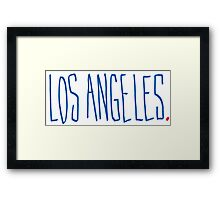Los Angeles - City Scroll Framed Print