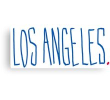 Los Angeles - City Scroll Canvas Print