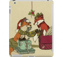 Foxes in Christmas Boxes iPad Case/Skin