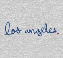Los Angeles Cursive - City Scroll by KirkParrish