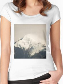 Pandim's peak in the Himalayas Women's Fitted Scoop T-Shirt