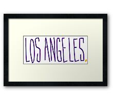 Los Angeles LAL - City Scroll Framed Print