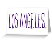 Los Angeles LAL - City Scroll Greeting Card