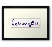 Los Angeles LAL Cursive - City Scroll Framed Print