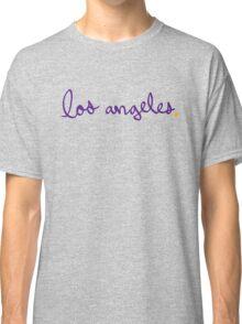Los Angeles LAL Cursive - City Scroll Classic T-Shirt