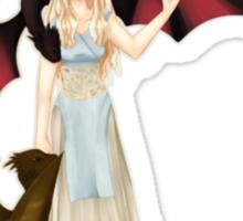 Daenerys Targaryen with her Dragons by KlockworkKat Sticker