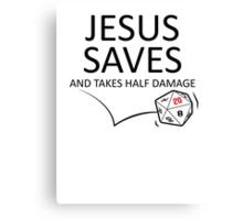 Jesus Saves Canvas Print