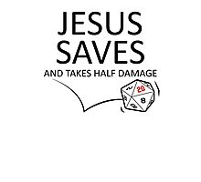 Jesus Saves Photographic Print