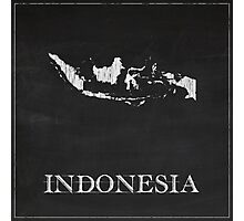Indonesia Map Chalk Drawing Photographic Print