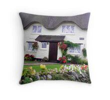 Devon Cottage garden Throw Pillow