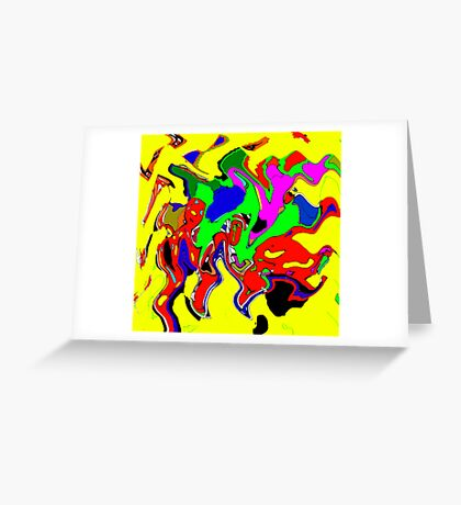 Coloured shapes Greeting Card
