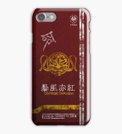 Crimson Typhoon Pit Crew Case iPhone Case/Skin