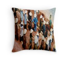 Men at work,Vietnam Throw Pillow
