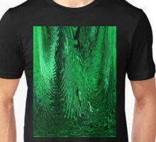 Green Abstract Flowing Ripple Water Glass Design Pattern Unisex T-Shirt
