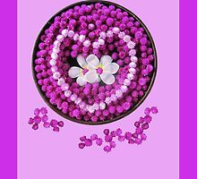Pink Love Flowers for Valentines by DAdeSimone
