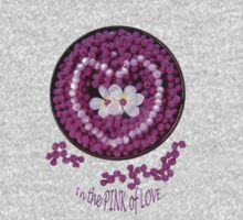 Pink Love Flowers for Valentines One Piece - Long Sleeve