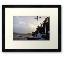 Has your ship come in? Framed Print