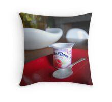 Yoghurt pot Throw Pillow