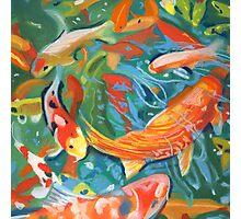 abstract koi pond Photographic Print
