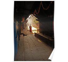 Serene street scene. Poster