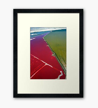 Red salt delta Framed Print