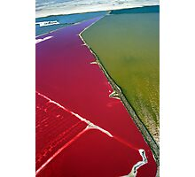 Red salt delta Photographic Print