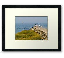 Fishing Jetty Framed Print