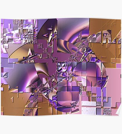 Fractal Bas-relief Poster