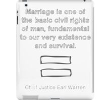 Marriage is for everyone iPad Case/Skin