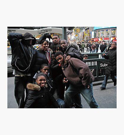 Times Square Kids Photographic Print