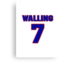 National baseball player Denny Walling jersey 7 Canvas Print