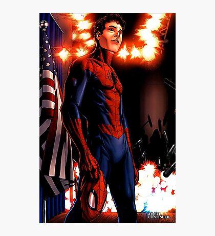 Spider-Man - civil war Photographic Print