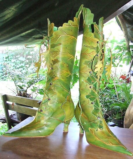 High Leaf boots by Pendragon Shoes