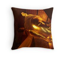 Reclining Buddha, Bangkok Throw Pillow