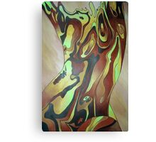 Contemporary Nude Abstract In Brown Canvas Print