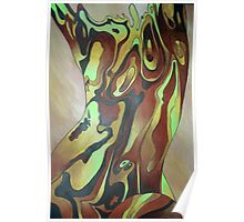 Contemporary Nude Abstract In Brown Poster