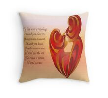 If A Kiss Were A Raindrop Greeting Card Throw Pillow