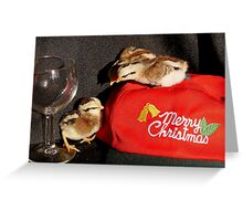 Serves You Right For Drinking All The Wine... -Duck Wing Chicks - NZ Greeting Card