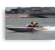 haulin' boat Canvas Print