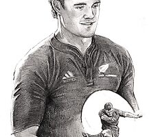 Dan Carter Portrait by Alleycatsgarden
