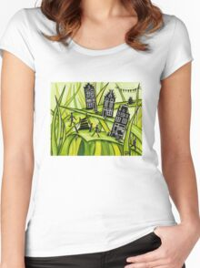 THE GREEN GRASS OF HOME #2 Women's Fitted Scoop T-Shirt