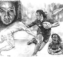 Tana Umaga New Zealand Rugby legend by Alleycatsgarden