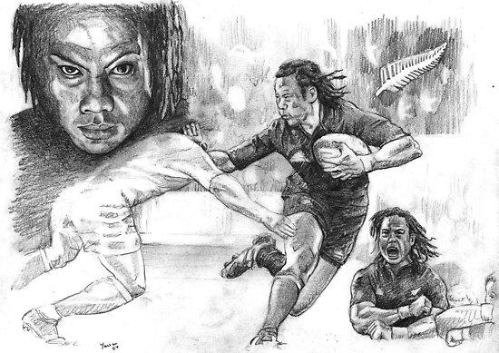 Tana Umaga New Zealand Rugby legend by Alleycatsgarden