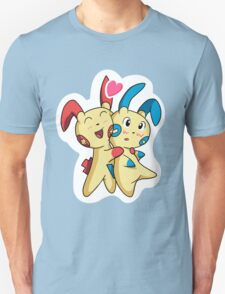 Plusle hearts Minun Unisex T-Shirt