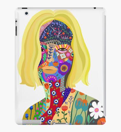 She lives in flower fantasy world white iPad Case/Skin